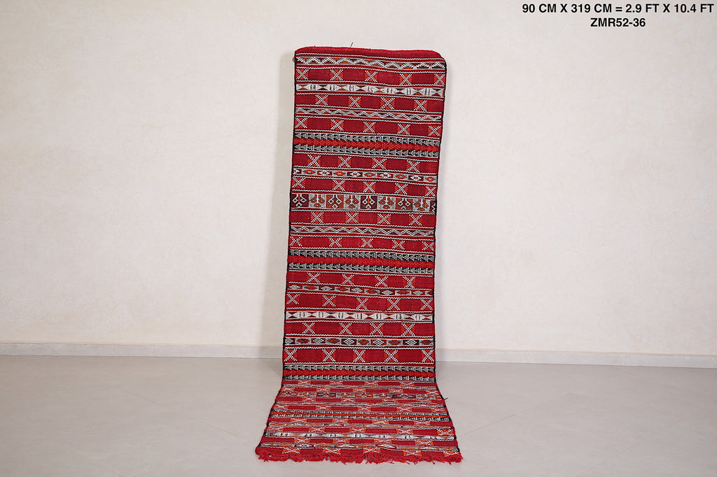 Long runner rug, 2.9ft x 10.4ft