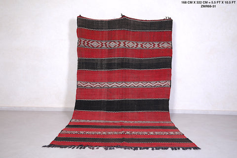 Old Moroccan kilim, 5.5 FT X 10.5 FT