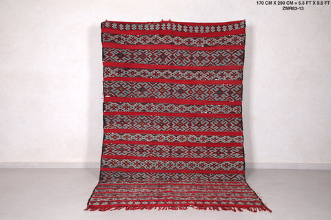 Woven Moroccan berber tribal rug, 5.5 FT X 9.5 FT