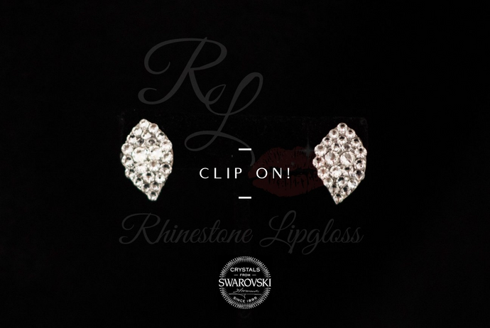 Clip On Petite Teardrop Clear