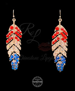 Feather Red White Blue