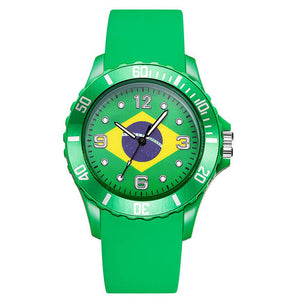 2018 FIFA World Cup Unisex Silicone Watch BRAZIL