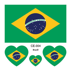 2018 World Cup 10PCS Tattoo Stickers BRAZIL