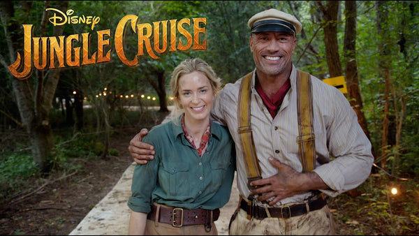 Disney Jungle Cruise Movie Poster Emily Blunt Dwayne Johnson