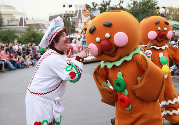 Disneyland Christmas holiday parade gingerbread man