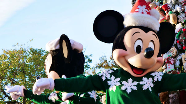 Disneyland Mickey Mouse Minnie Mouse holiday parade