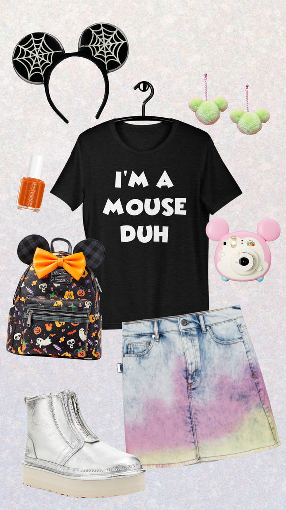friday apparel I'm a mouse duh shirt mean girls disneyland Disney World mickey Minnie Mouse halloween time shirt lounge fly backpack install mickey Pom Pom earrings mickey ears