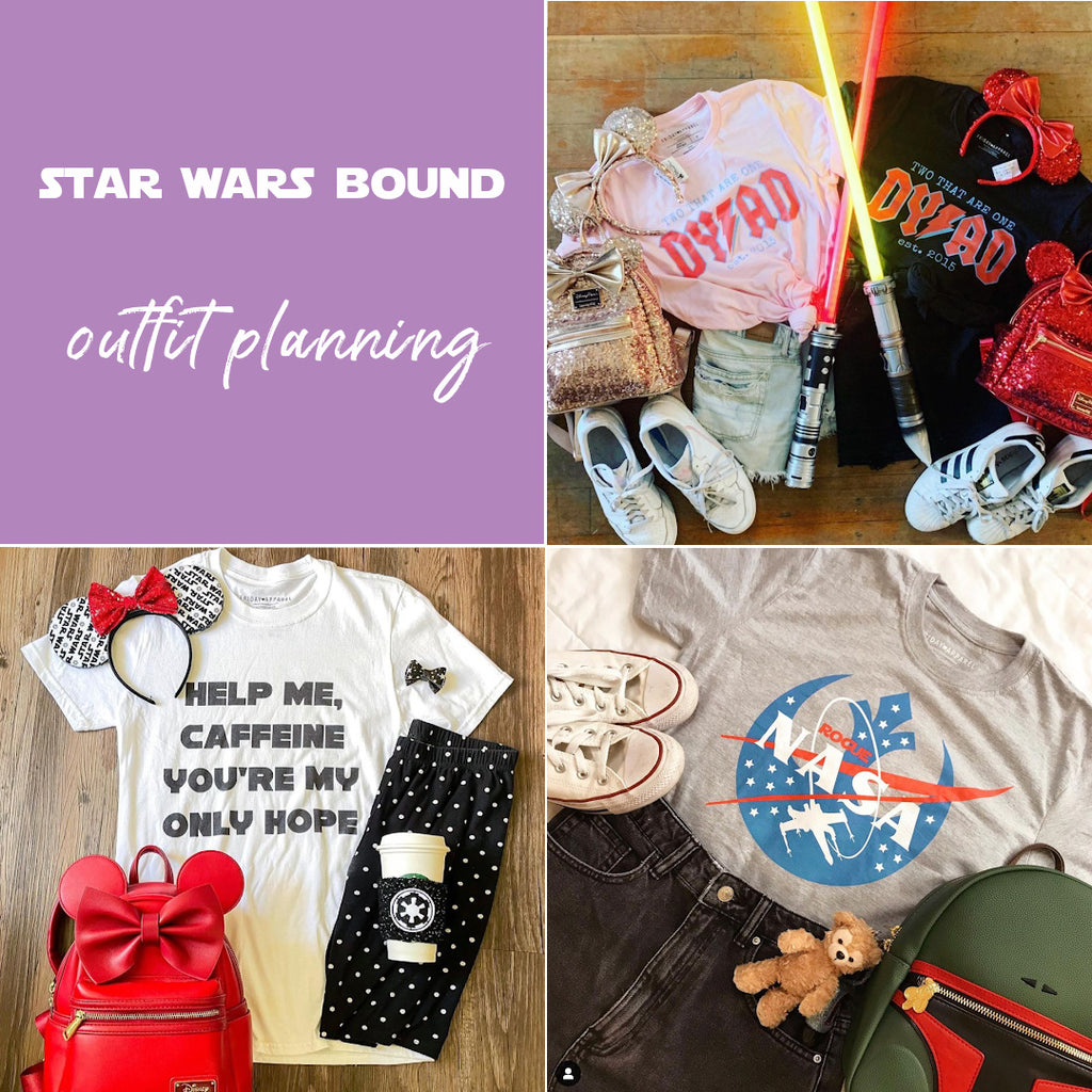 Star Wars bound friday apparel blog outfit planning galaxys edge