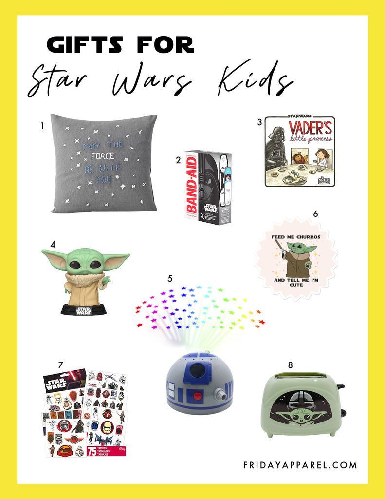 friday apparel Star Wars gifts guides for kids teens baby youth