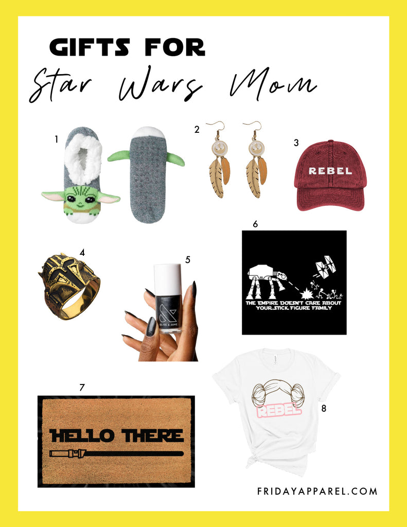 Friday apparel gifts for Star Wars mom gift guides may the fourth be with you