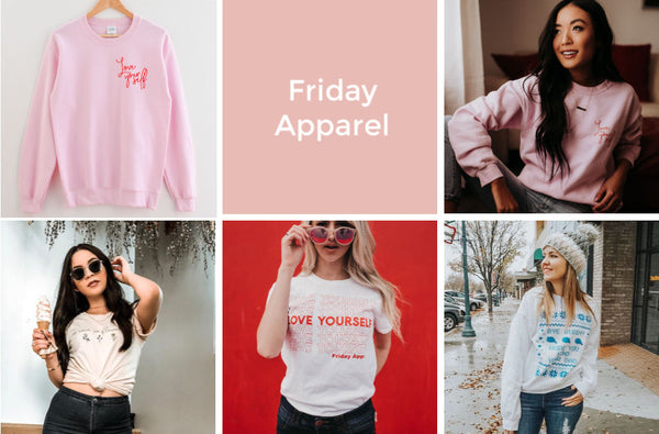 Friday apparel women's graphic tees sweaters holiday gift guide