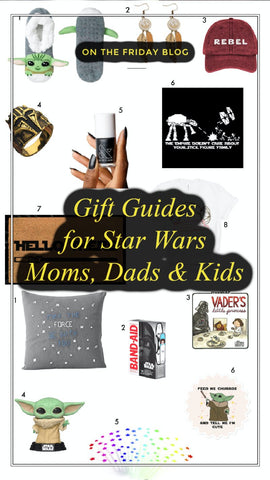 Star Wars gift guides mothers day fathers day shop friday apparel wedding birthday