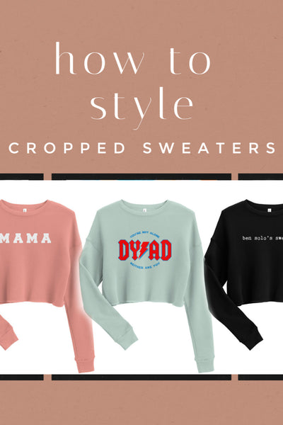 how to style cropped sweaters mama dyad Star Wars Friday apparel