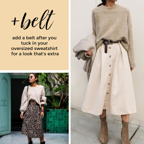 how to style sweaters and skirt belts the Friday blog Friday apparel