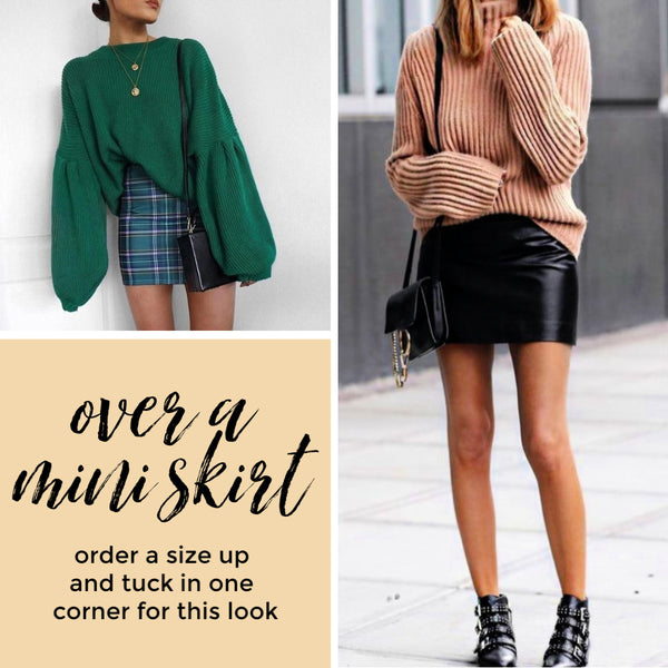 how to style sweaters and mini skirt the Friday blog Friday apparel