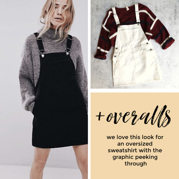 how to style sweaters and skirts overalls the Friday blog Friday apparel