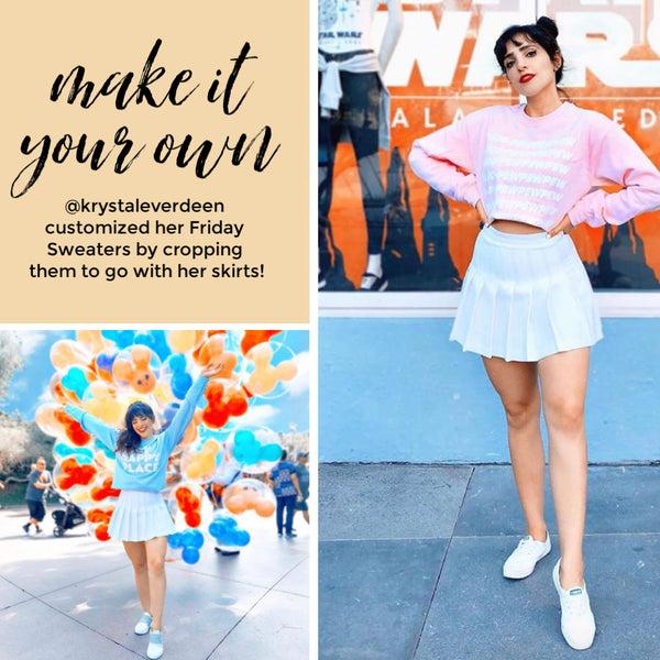 how to style sweaters and skirts diy customize cropped sweater Disney Star Wars