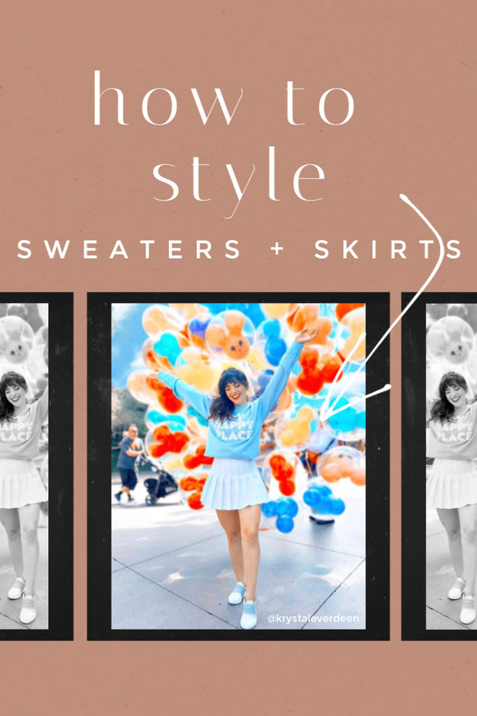 how to style sweaters and skirts the Friday blog Friday apparel