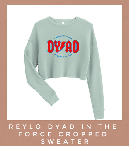 reylo dyad in the force kylo ren rey ben solo Star Wars cropped sweater Friday apparel mint