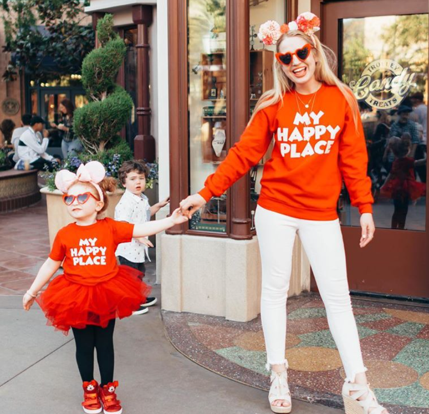 My Happy Place Sweatshirt + Cropped