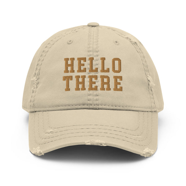 Hello There Distressed Hat