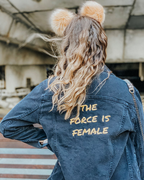 The Force Is Female Denim Jacket