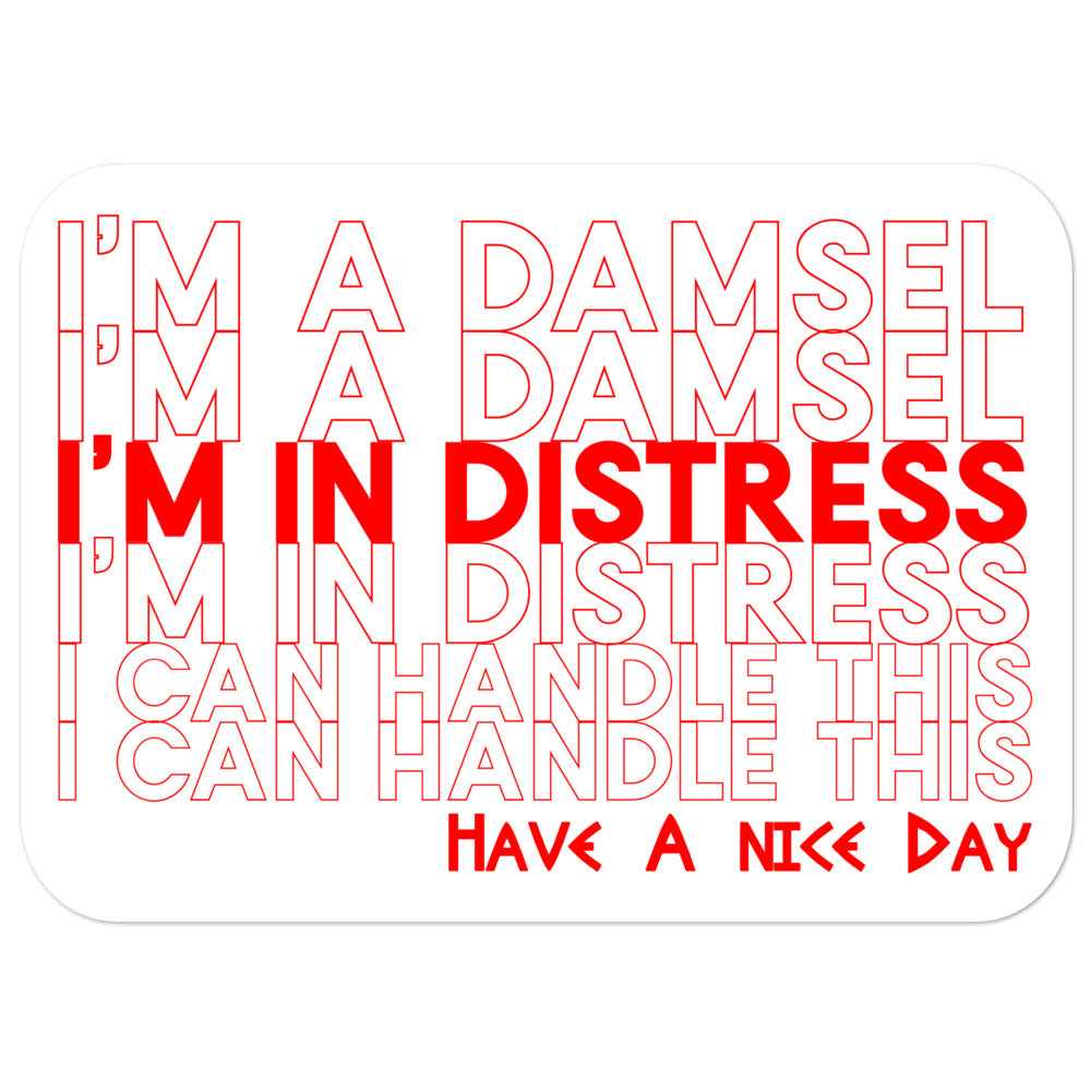 Meg Damsel in Distress Sticker