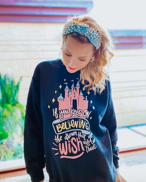 Keep Believing Disney Castle Sweatshirt