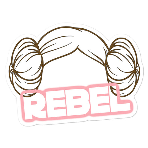 Leia Rebel Buns Sticker