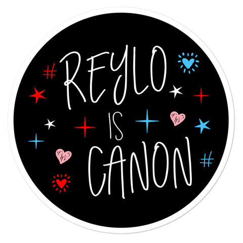 Reylo Is Canon Sticker