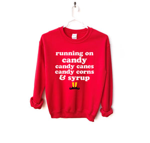 Running on Elf Food Sweatshirt