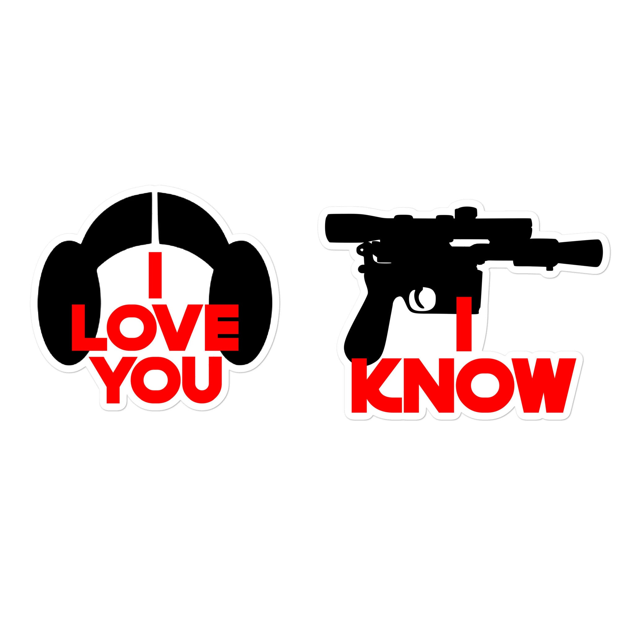 Matching I Love You I Know Stickers