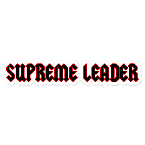 Supreme Leader Sticker