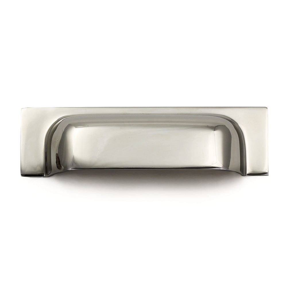 Cedar and Moss. Bjorn Cup Pull. Shown in Polished Nickel Finish.
