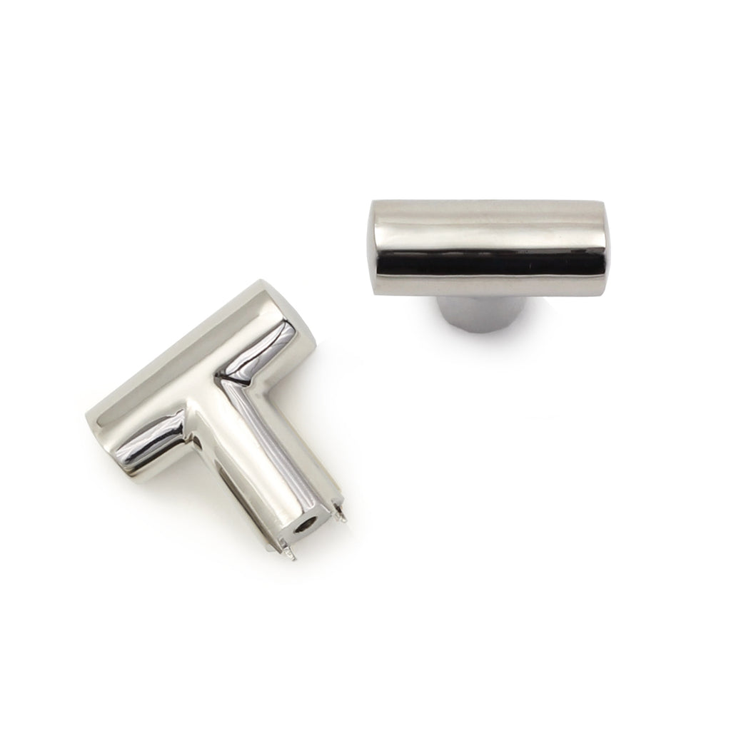 Cedar and Moss. Elise Hardware Pull. Shown in Polished Nickel Finish.
