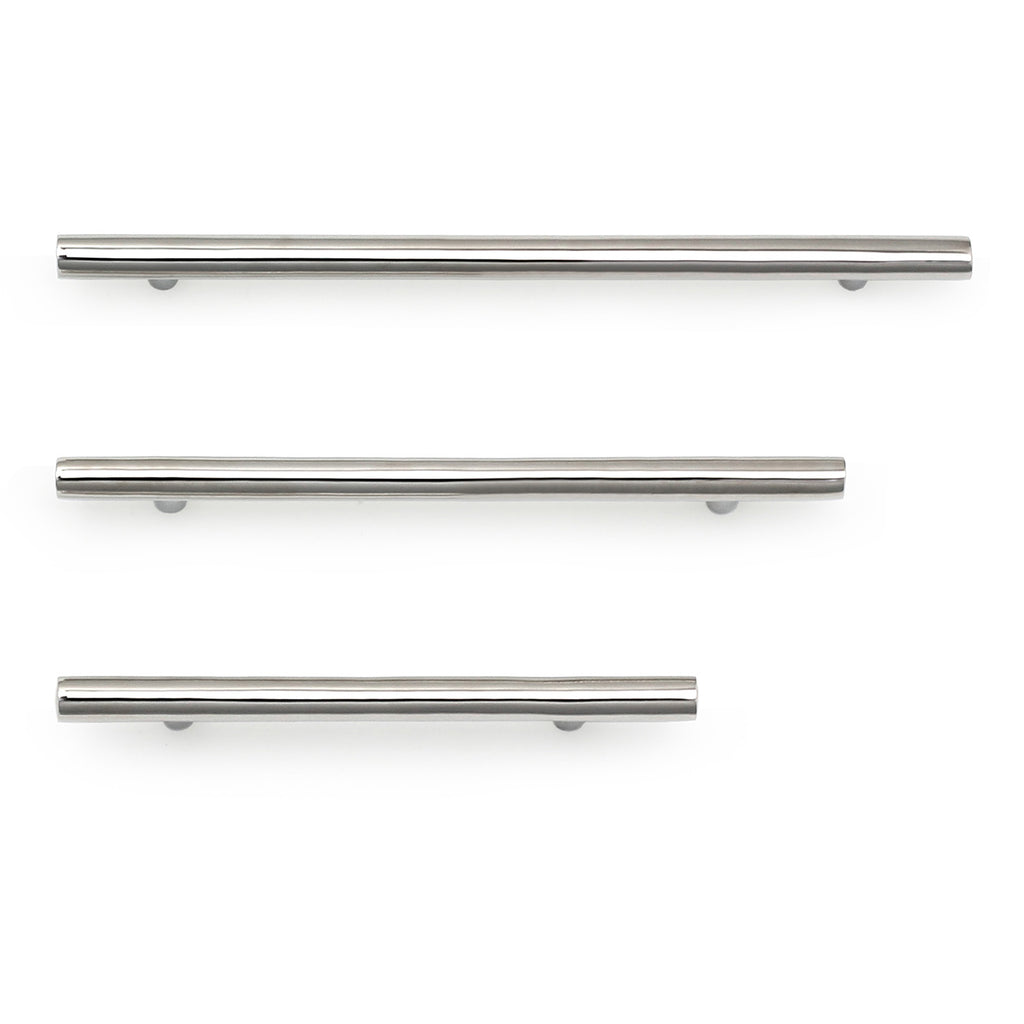 Cedar and Moss. Lorraine Hardware Pull. Shown in Polished Nickel Finish.