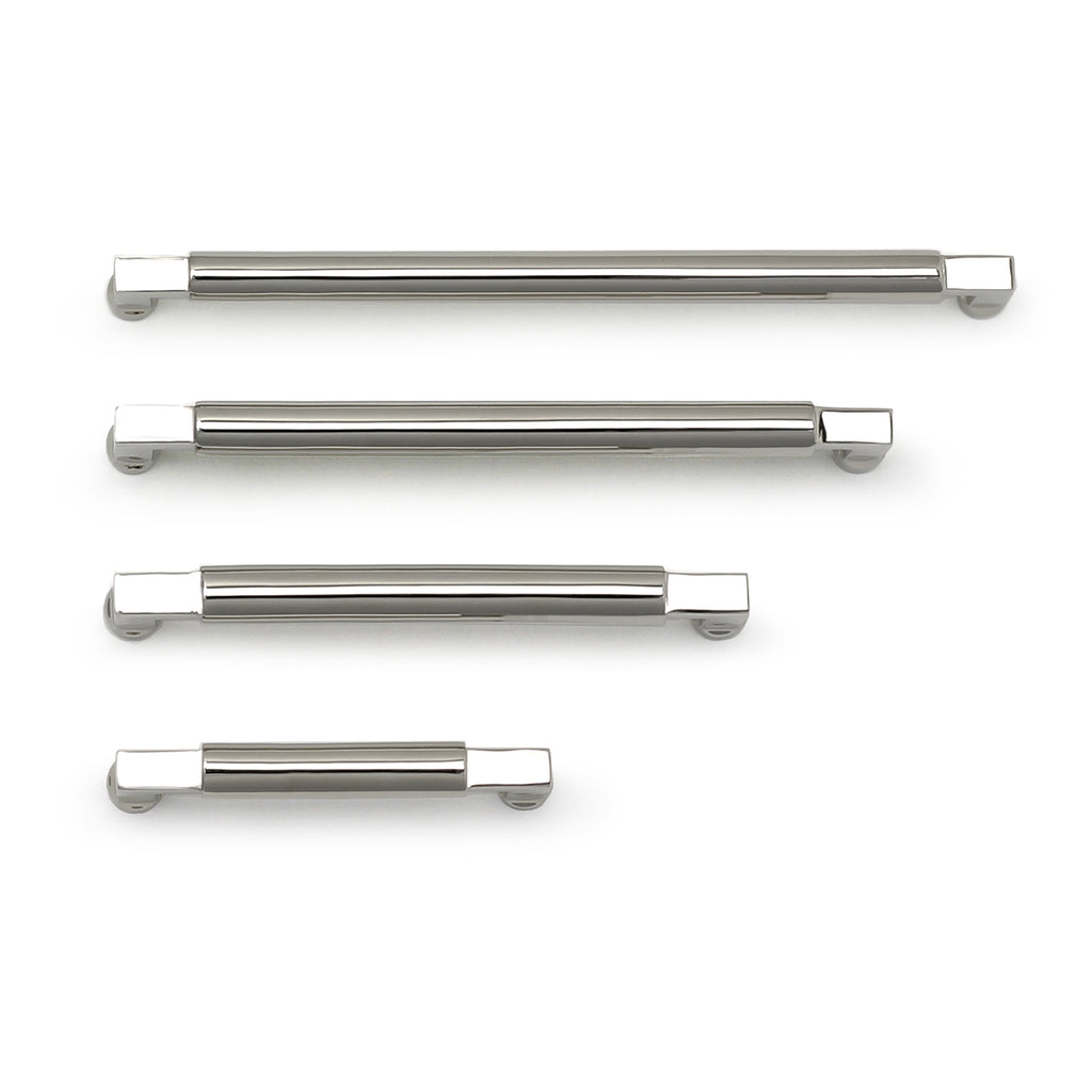Cedar and Moss. Tanis Hardware Pull. Shown in Polished Nickel Finish.