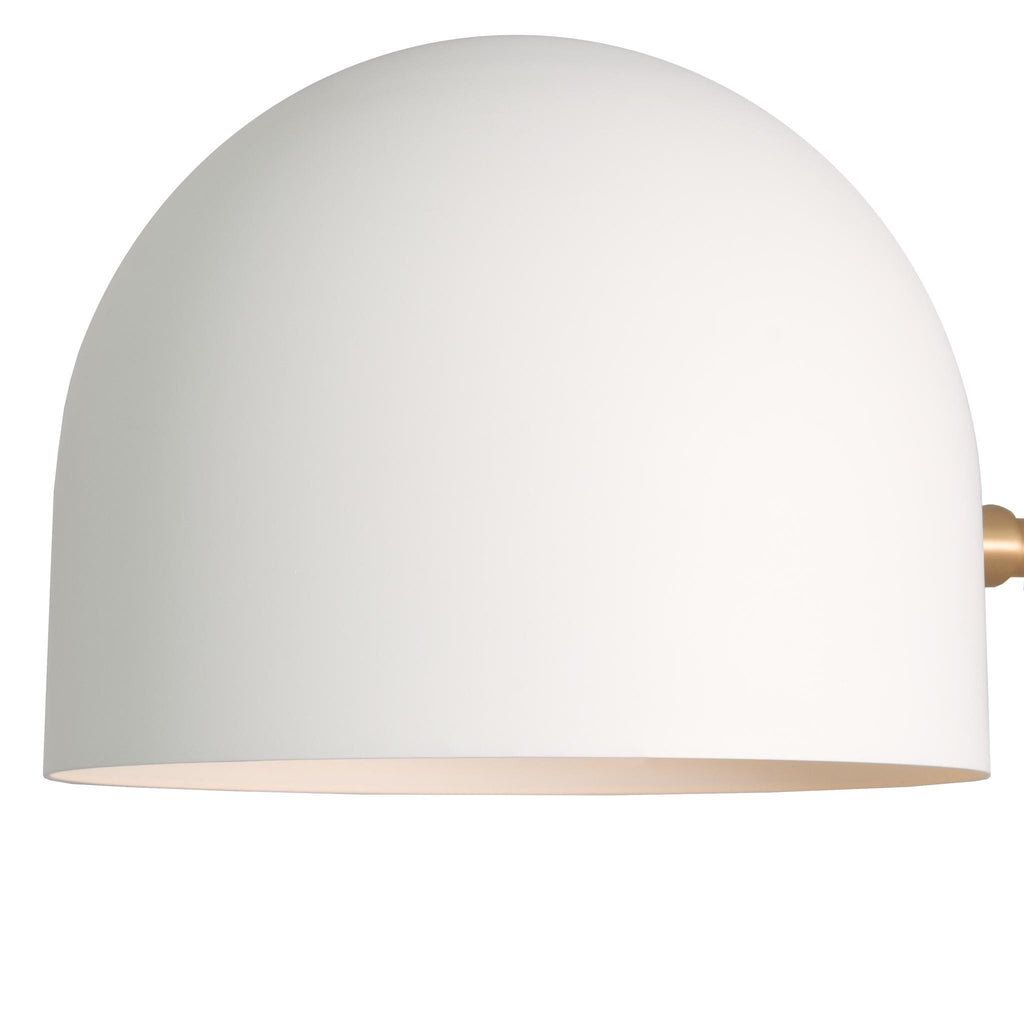 "Amelie Sconce 8"" in Matte White finish, coming soon. Cedar and Moss."