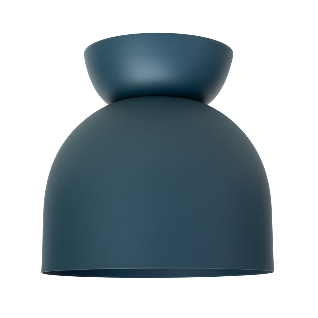 "Amelie Surface 8"". Ocean Blue finish shown. (A19 light bulb shown, not included). Cedar and Moss."