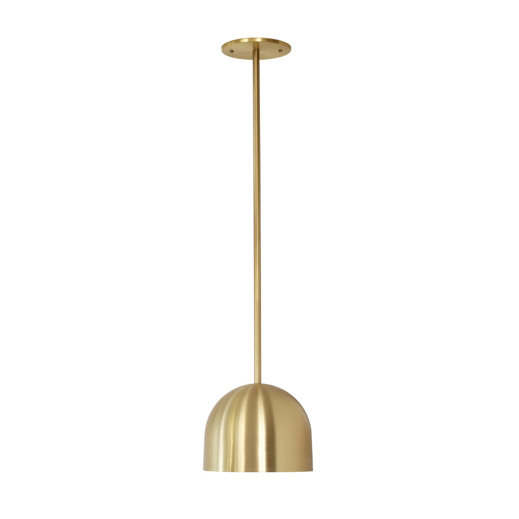 "Amelie Rod 8"". Shown in Brass Finish. Cedar and Moss."
