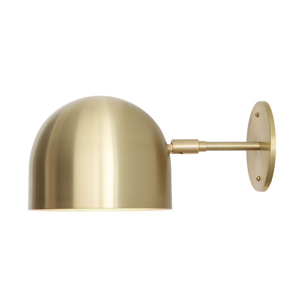 "Amelie Sconce 8"" light fixture. Shown in Brass metal finish. Cedar and Moss."