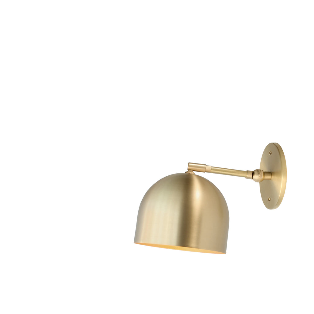 "Amelie Single Articulated 6"". Shown in Brass finish with 3"" arm. (G19 light bulb shown, not included). Cedar and Moss."