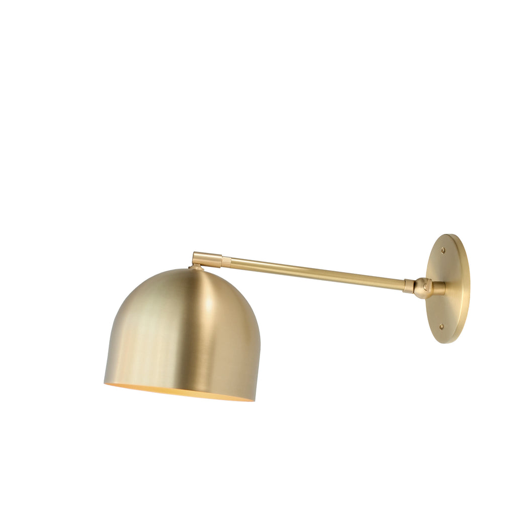 "Amelie Single Articulated 6"". Shown in Brass finish. (G19 light bulb shown, not included). Cedar and Moss."