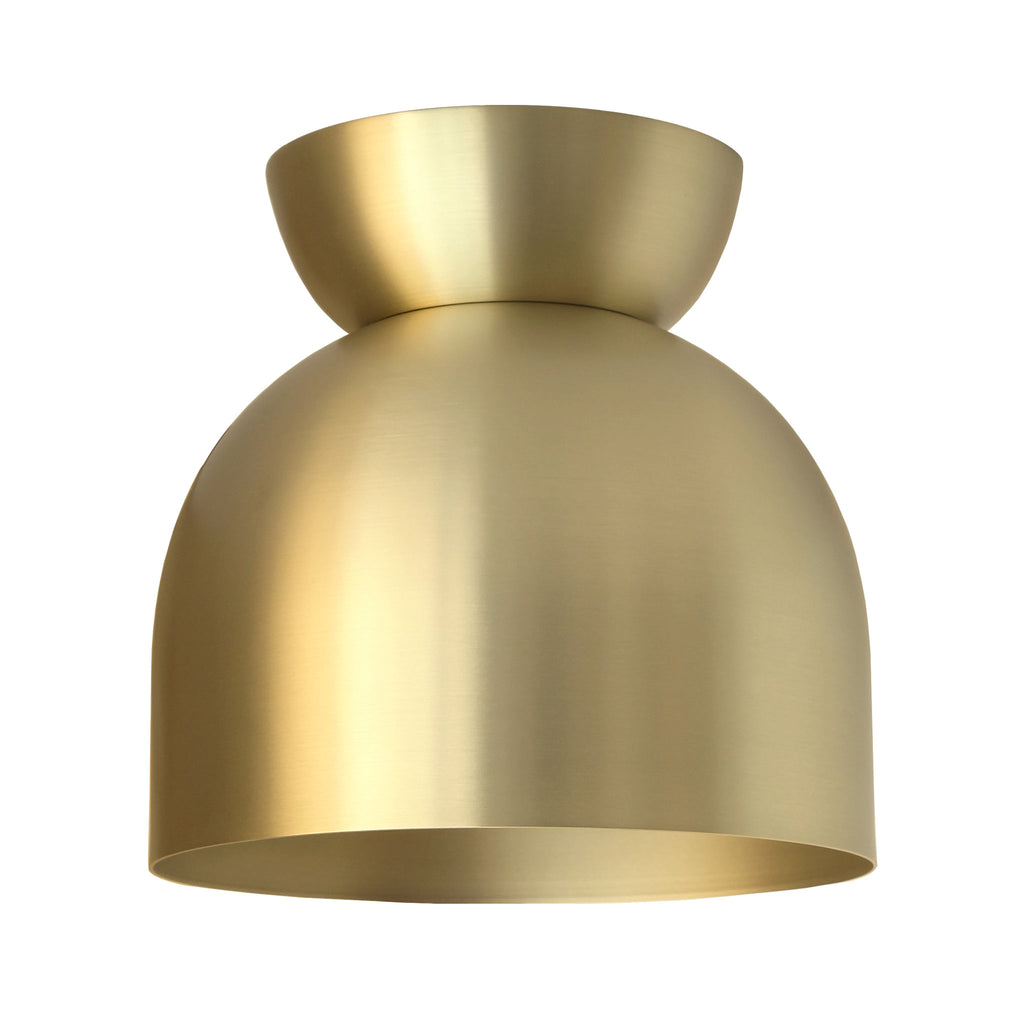 "Amelie Surface 8"". Brass finish shown. (A19 light bulb shown, not included). Cedar and Moss."
