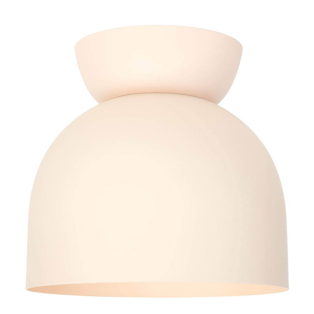 "Amelie Surface 10"". Blush finish shown. (A19 light bulb shown, not included). Cedar and Moss."