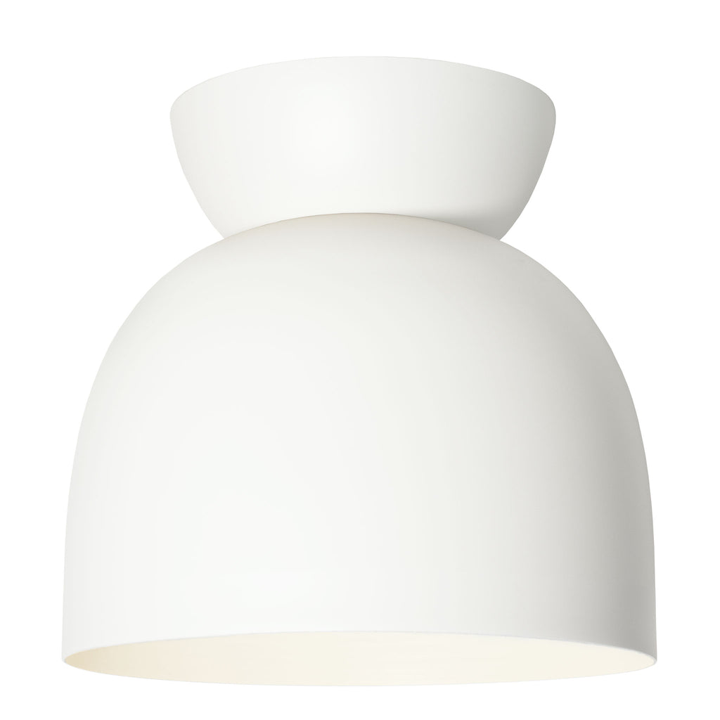 "Amelie Surface 10"". White finish. (A19 light bulb shown, not included). Cedar and Moss."