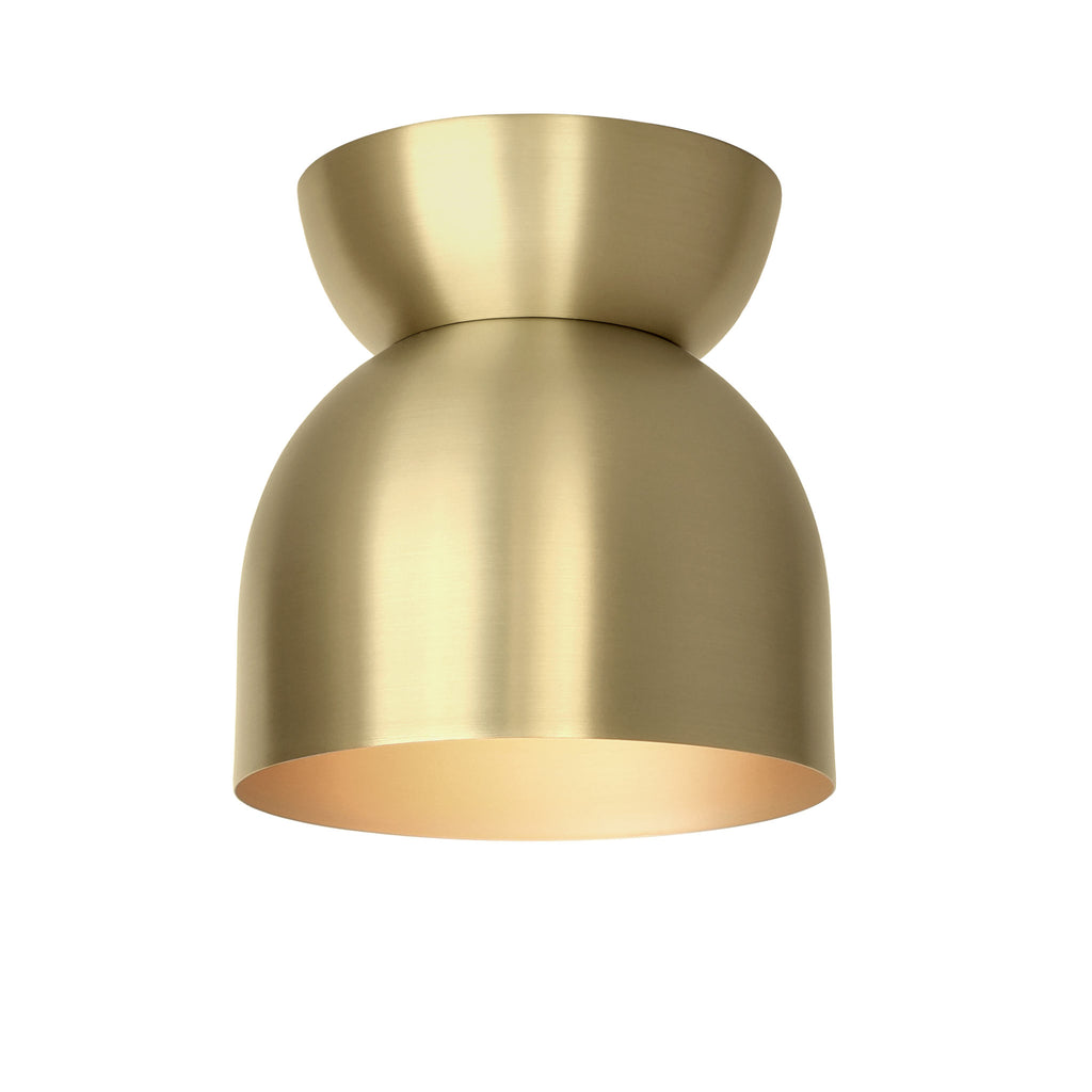 "Amelie Surface 6"". Brass finish shown. (G19 light bulb shown, not included). Cedar and Moss."