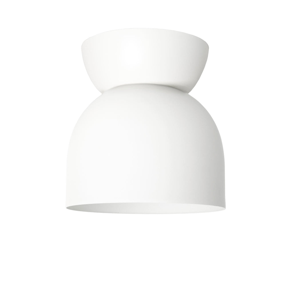 "Amelie Surface 6"". White finish. (G19 light bulb shown, not included). Cedar and Moss."