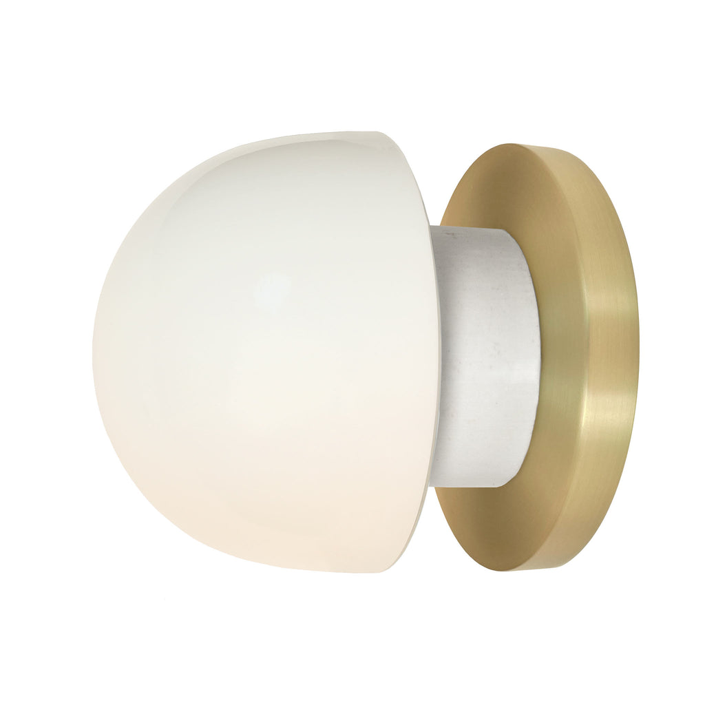 Anni wall or ceiling light. Shown in Brass finish. (LED light bulb included). Cedar and Moss.