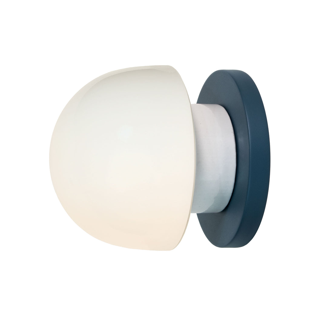 Anni wall or ceiling light. Shown in Ocean Blue finish. (LED light bulb included). Cedar and Moss.